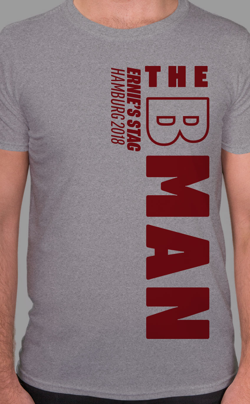 Best Man - Side Personalised Stag Do T Shirt
