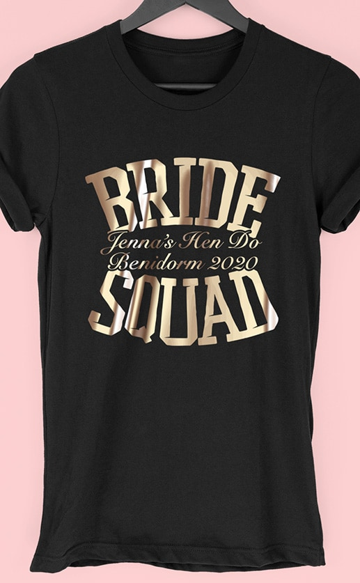 Bride Squad – Personalised Hen Party T Shirt