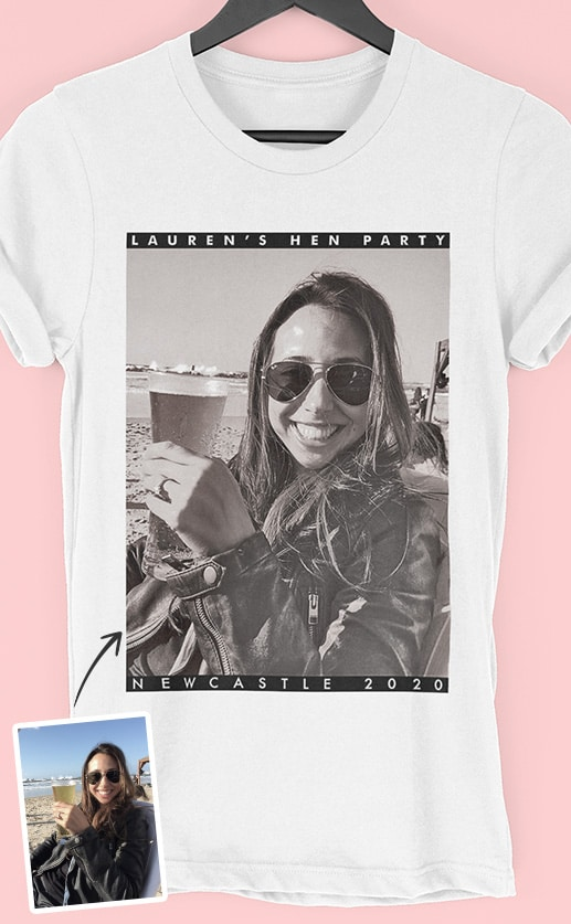 Frame PhotoWorks – Personalised Hen Party T Shirt