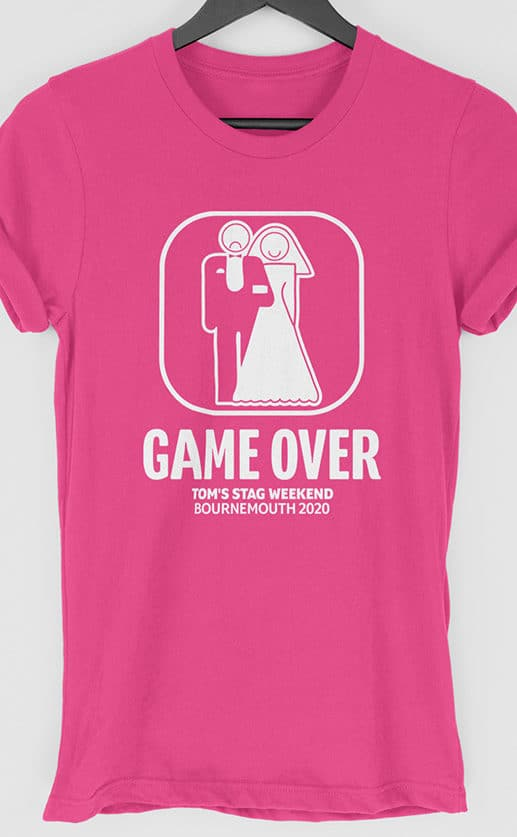 Game Over Personalised Stag Do T Shirt