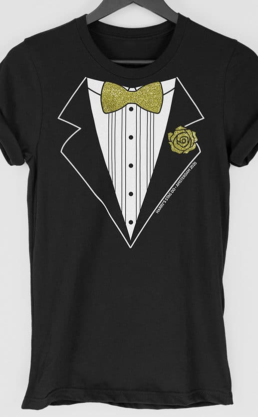 Glitter Tux Personalised Stag Do T Shirt