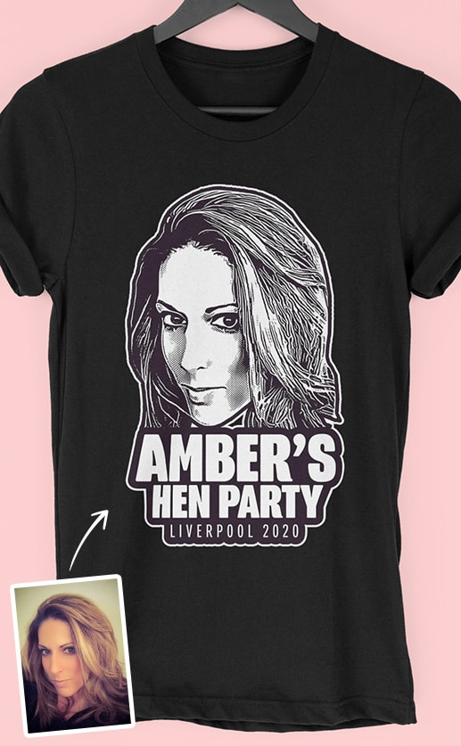 Head PhotoWorks – Personalised Hen Party T Shirt