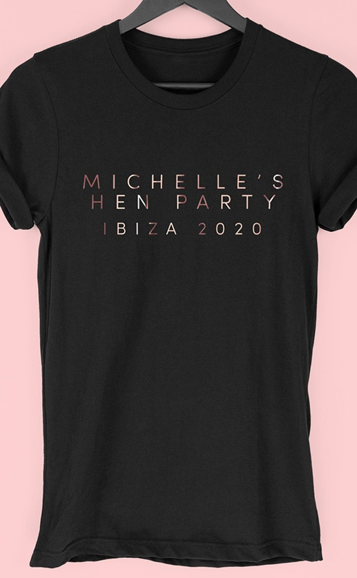 Light Type – Personalised Hen Party T Shirt
