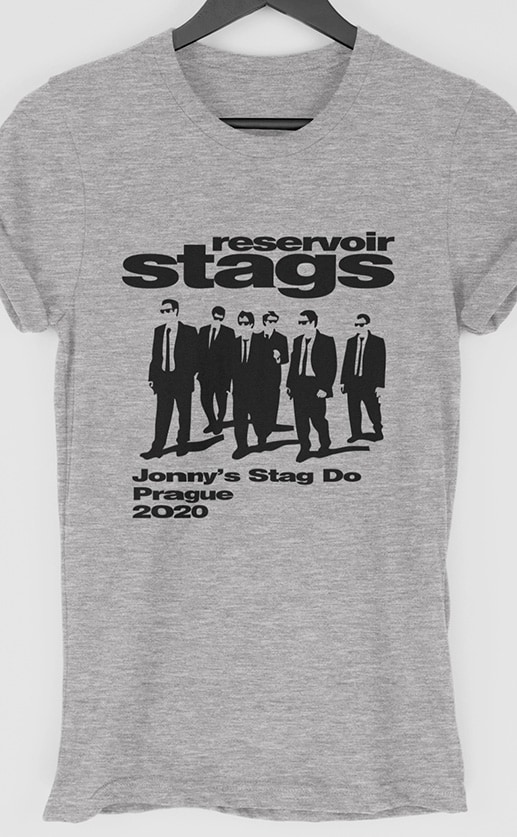 Reservoir Stags Personalised Stag Do T Shirt