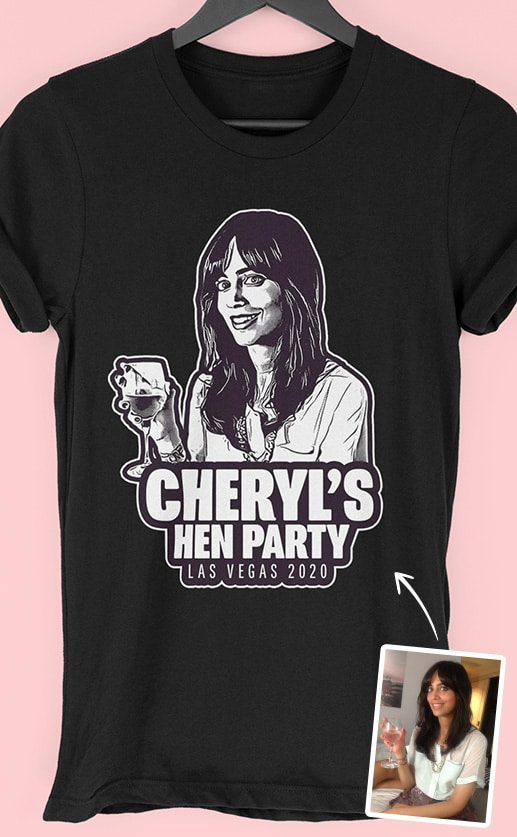 Shoulders PhotoWorks – Personalised Hen Party T Shirt