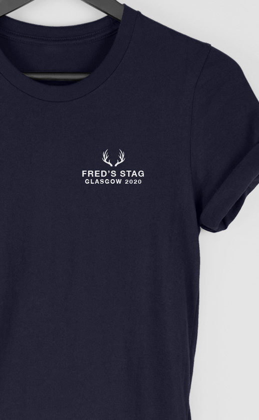 Stag Perry - Top Left Personalised Stag Do T Shirt
