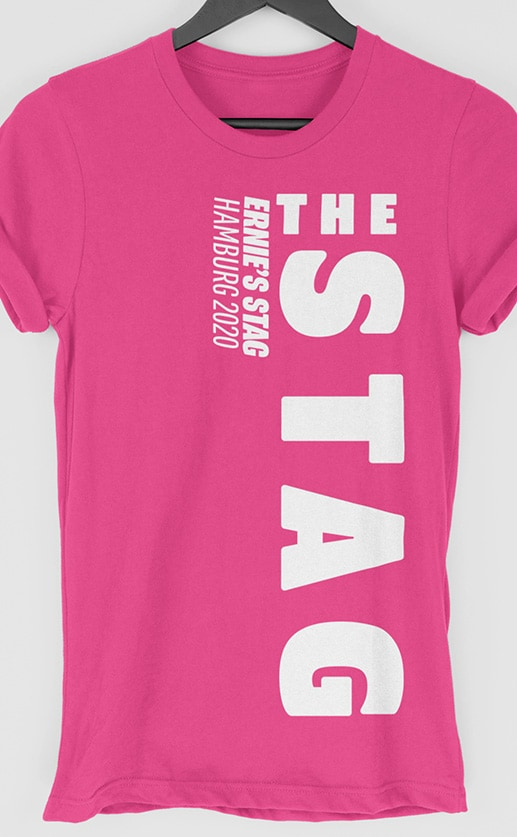 Stag – Side Personalised Stag Do T Shirt