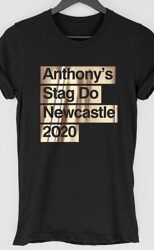 Tape Personalised Stag Do T Shirt