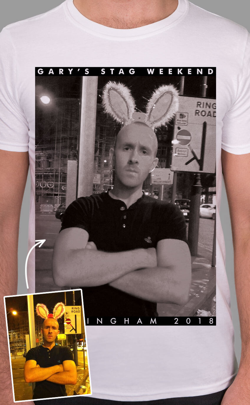 Frame PhotoWorks Personalised Stag Do T Shirt