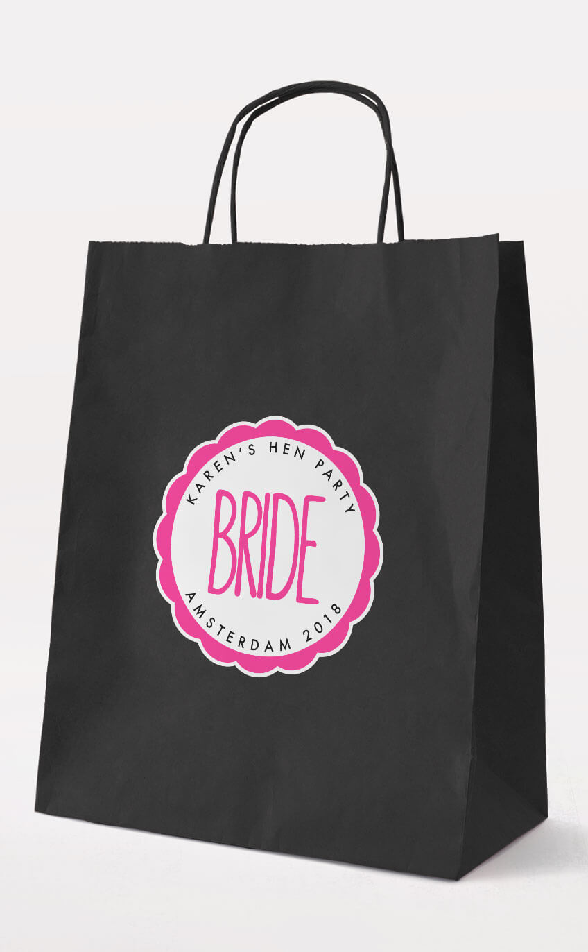 Bride Gift Bag - Personalised Hen Party Gift Bags