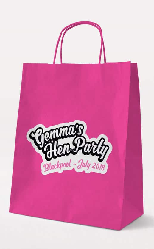 Candy Gift Bag – Fuchsia – Personalised Hen Party Gift Bags