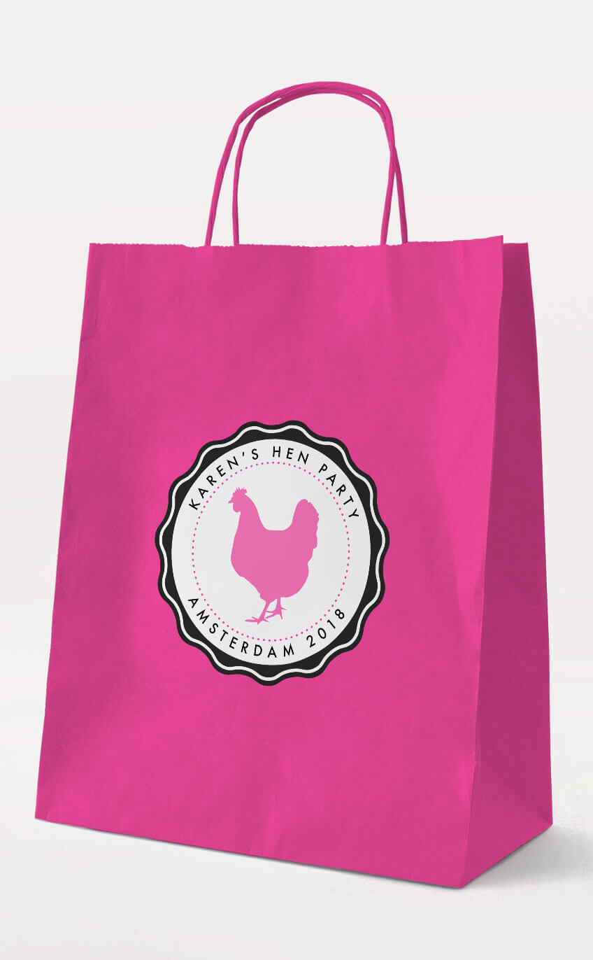 Chick Hen Party Gift Bag – Fuchsia – Personalised Hen Party Gift Bags