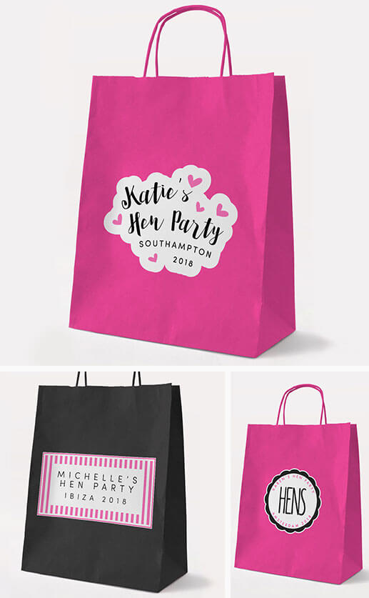 Personalised Hen Party Gift Bags