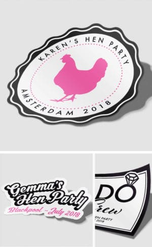 Personalised Hen Party Stickers