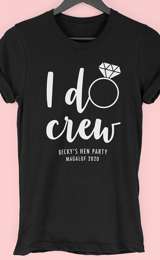 I Do Crew 2 - Personalised Hen Party T Shirt