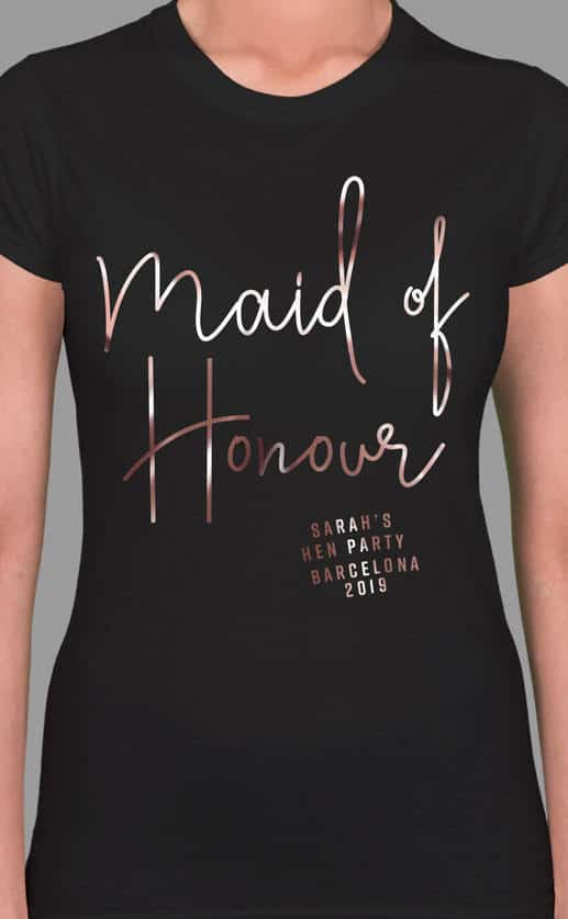 MAID OF HONOUR FOIL