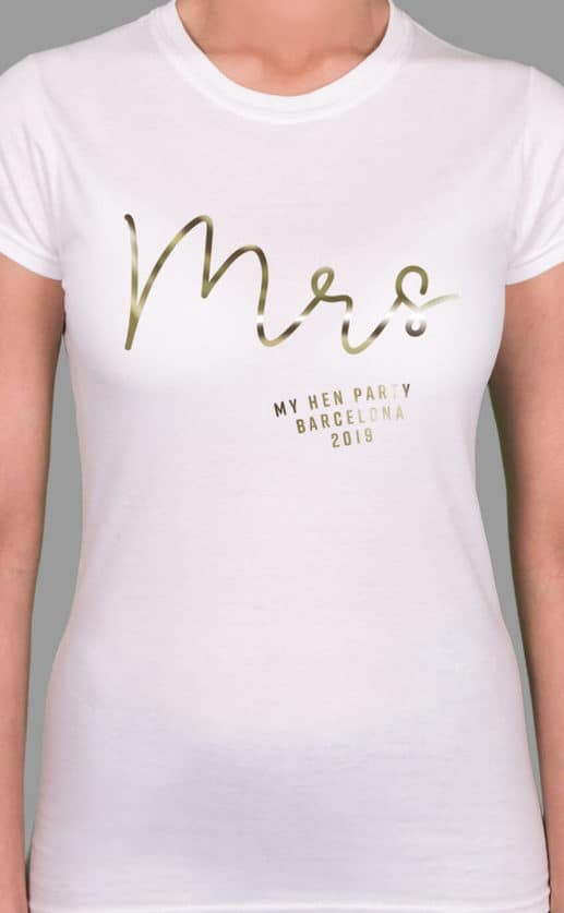 Mrs Foil - Personalised Hen Party T Shirt