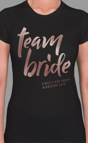 Team Bride 2 - Personalised Hen Party T Shirt