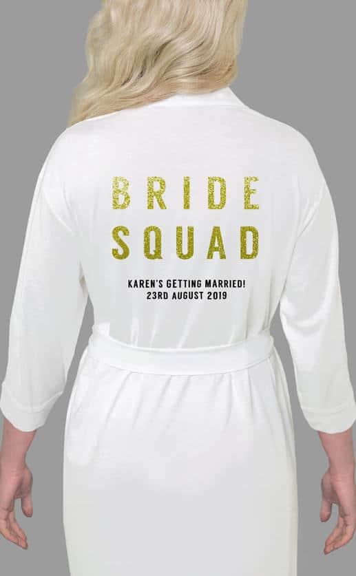 BRIDE SQUAD GLITTER ROBE