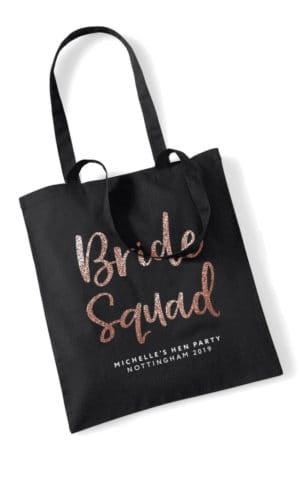 Bride Squad Script Hen Party Tote Bag