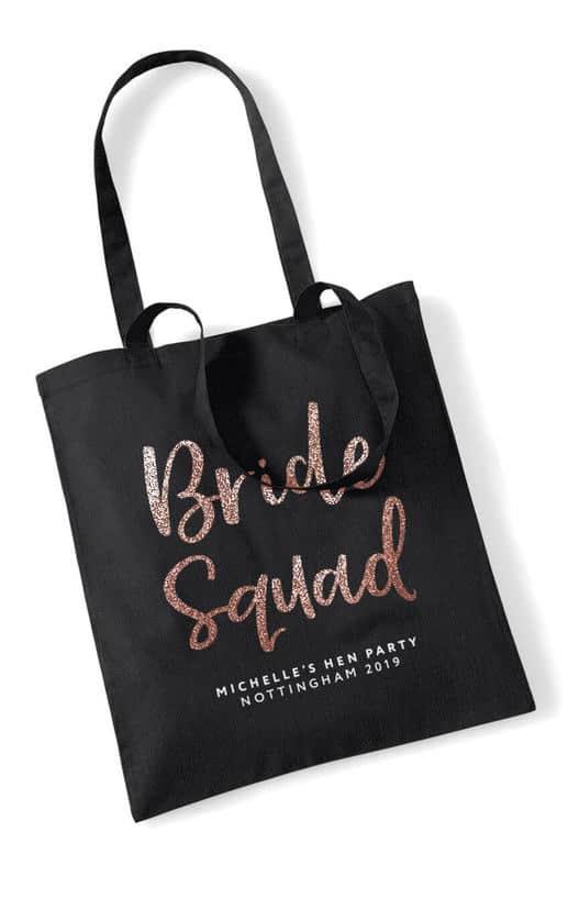 Bride Squad Script Hen Party Tote Bag