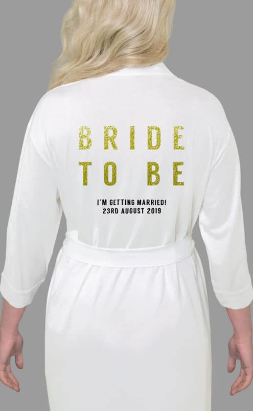 Bride To Be Bold Glitter Robe