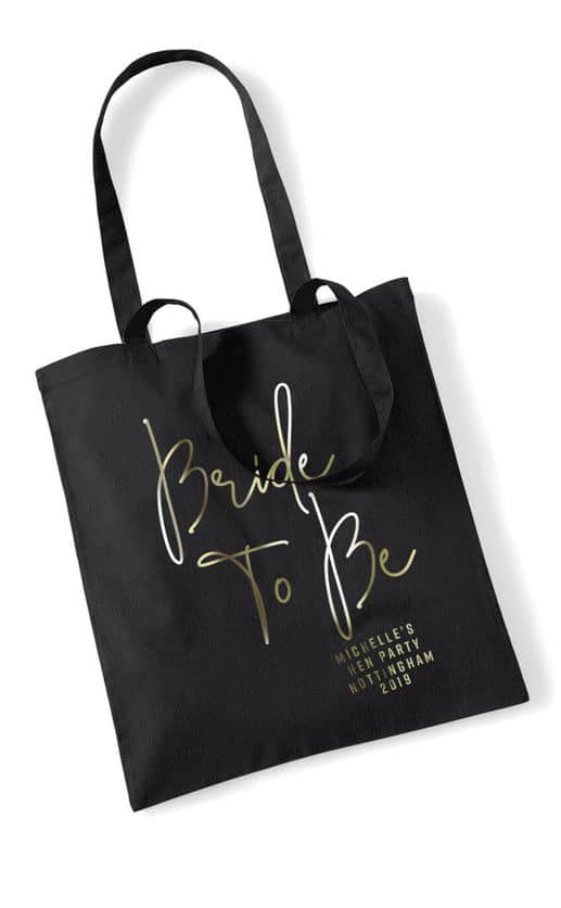 BRIDE TO BE – FOIL SCRIPT TOTE BAG