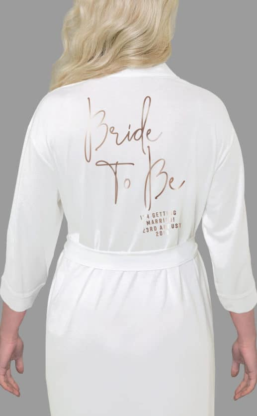 Bride To Be Foil Robe