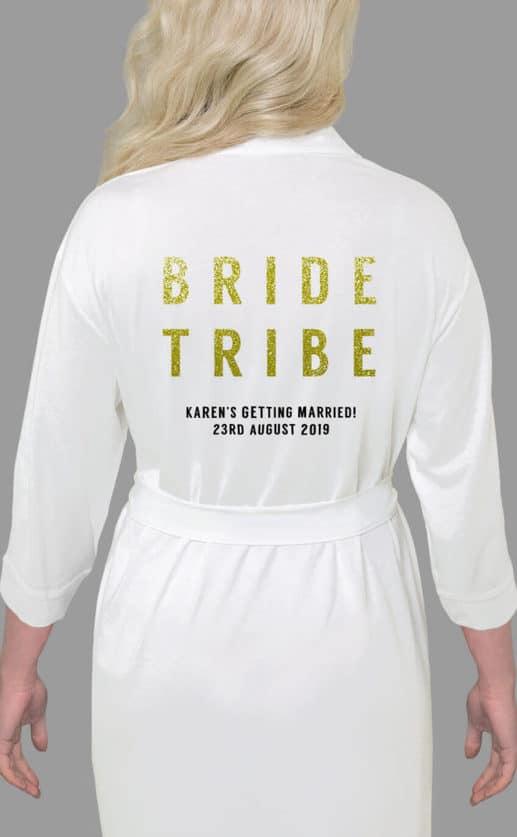 Bride Tribe Bold Glitter Robe
