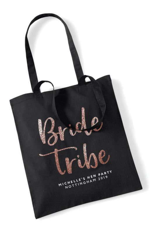 Bride Tribe Script Hen Party Tote Bag
