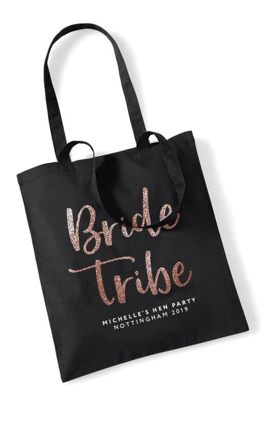 Bride Tribe Script Hen Party Tote Bag