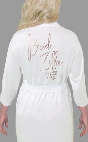 Bride Zilla Foil Robe