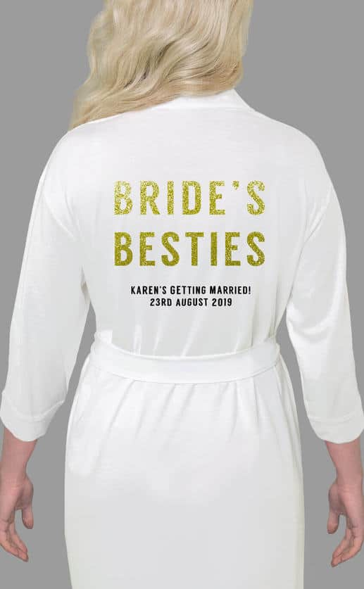 Brides Besties Bold Glitter Robe