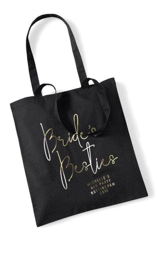 Brides Besties Foil Hen Party Tote Bag