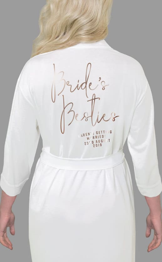 Brides Besties Foil Robe