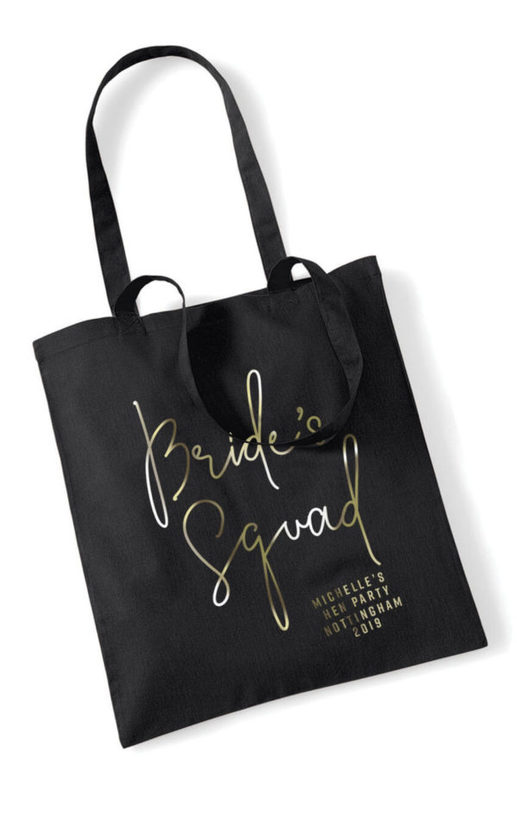 Brides Squad Foil Hen Party Tote Bag