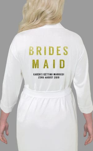Bridesmaid Bold Glitter Robe