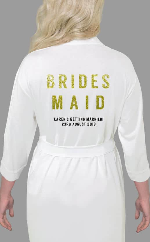 BRIDESMAID GLITTER ROBE