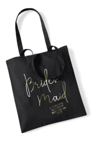 Bridesmaid Foil Hen Party Tote Bag
