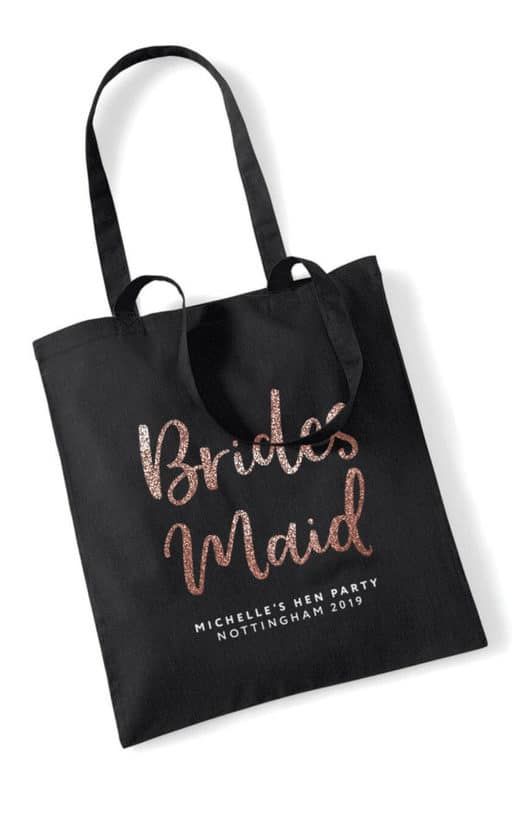 Bridesmaid Script Hen Party Tote Bag