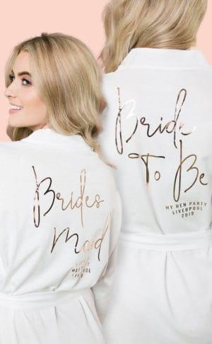 Personalised Bridal Robes