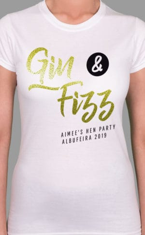 Gin Fizz Personalised Hen Party T Shirt