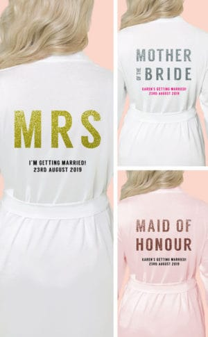 Glitter Bridal Robes