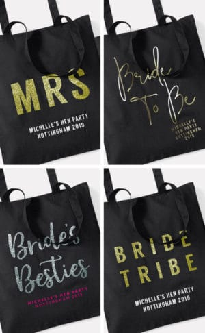 Personalised Hen Party Tote Bags