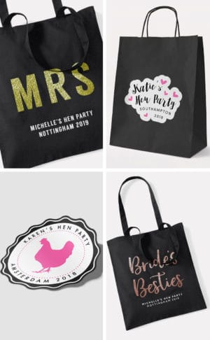 Personalised Hen Party Bags