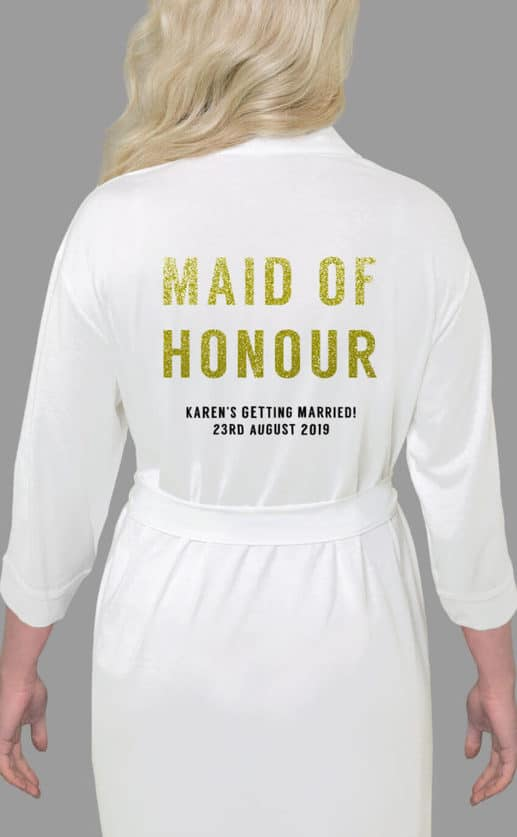 Maid of Honour Bold Glitter Robe