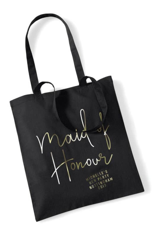 Maid of Honour Foil Hen Party Tote Bag