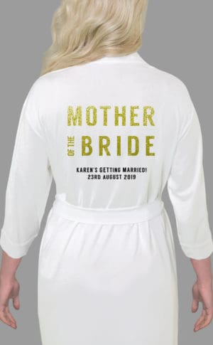Mother of the Bride Bold Glitter Robe