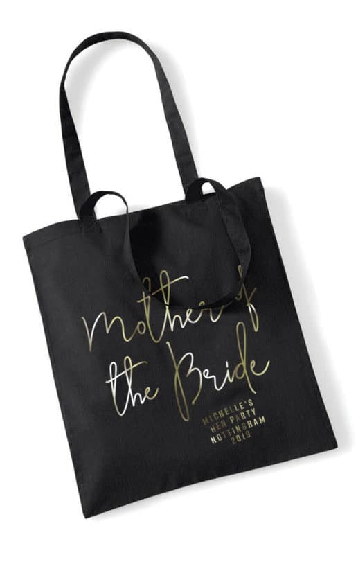 Mother of the Bride Foil Hen Party Tote Bag