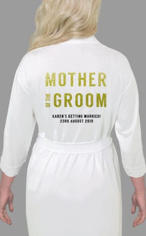 Mother of the Groom Bold Glitter Robe